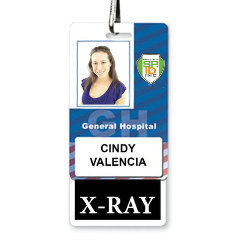 X-RAY Vertical Badge Buddy with BLACK Border