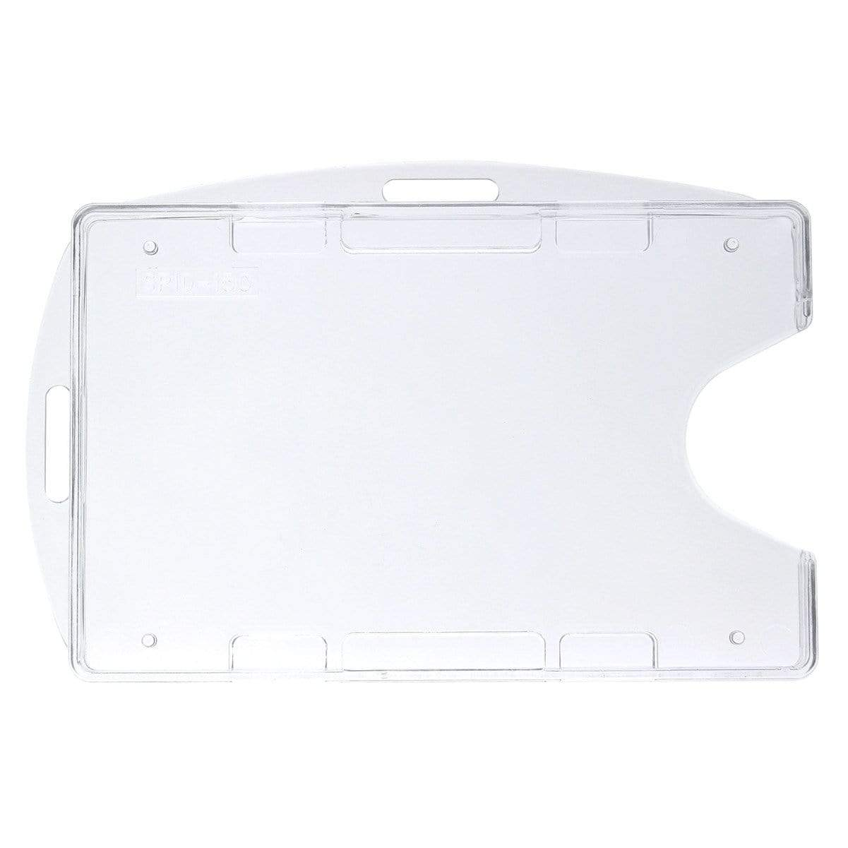 Crystal Clear Rigid Open-Faced 2 Card Holder - Optional Vertical or Horizontal (P/N SPID-150)