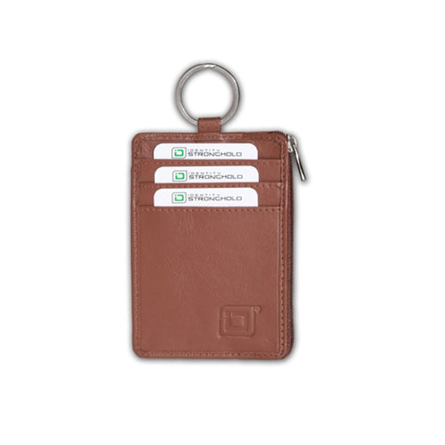 Identity Stronghold IDSH7006-001 RFID Blocking Secure Wallet Mini with Key Ring