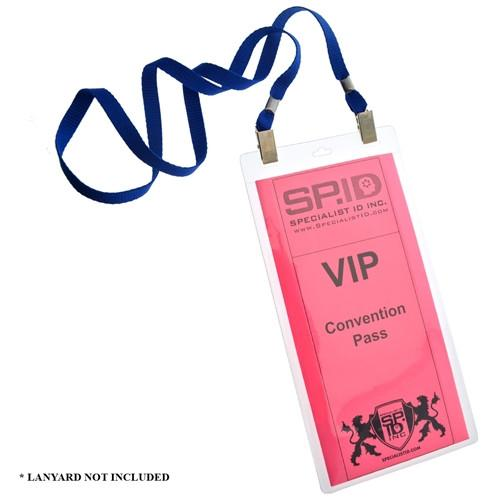 4x8 Inch Extra Large Ticket or Credential Holder With 3 Euro Slots SPID-1040