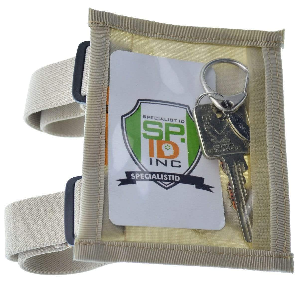 Raine Military ID Badge Armband Holder with Two Straps (SPID-1090)