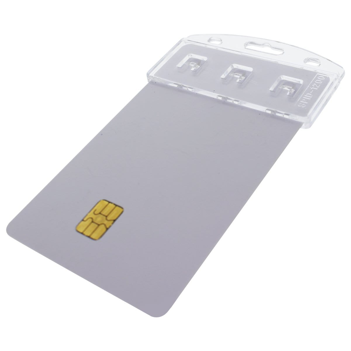 Vertical Half Card Badge Holder for Smart Chip (INSERT) PIV Common Access and Chip Credit Cards (SPID-1200)
