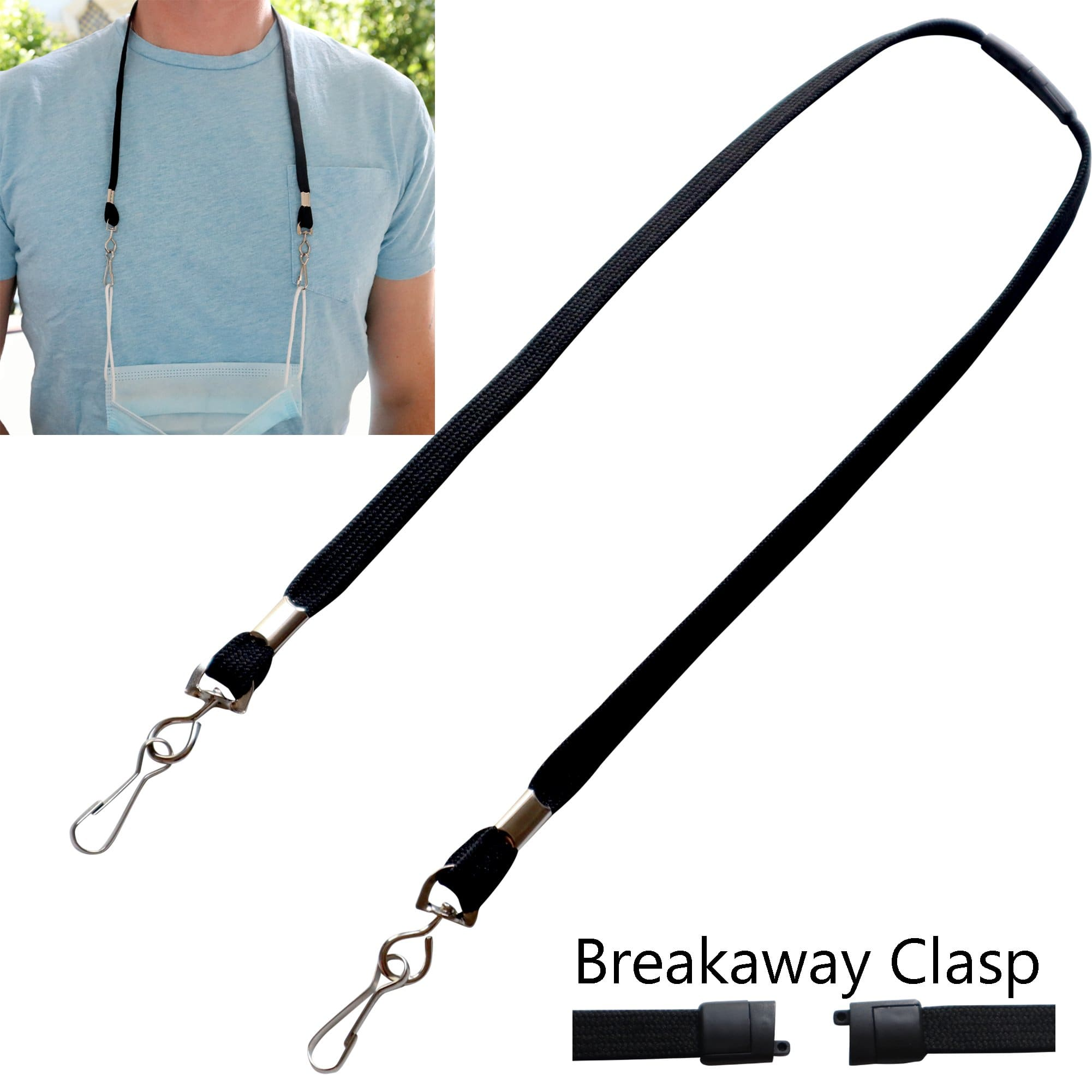 Special Order Adult Size Face Mask Lanyard / Hanger with Safety Breakaway Clasp