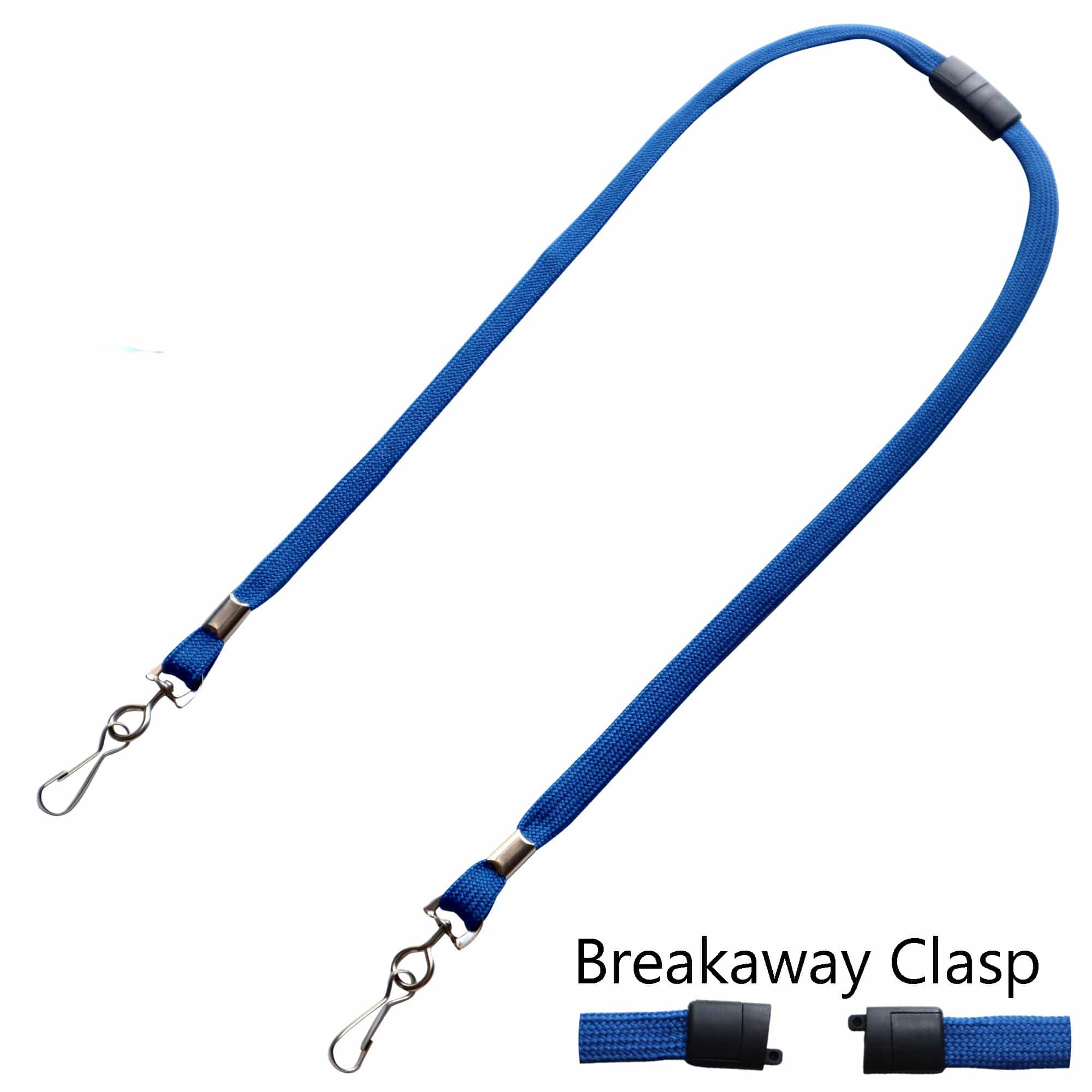 Face Mask Lanyard / Hanger with Safety Breakaway Clasp - Ear Saver with J Hooks Adult Size