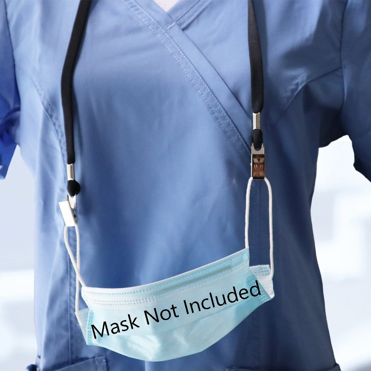 5 Pack Face Mask Lanyards with Bulldog Clips - Comfortable Premium Economy Neck Strap Ear Saver/Facemask Holder
