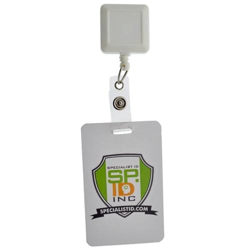 Square Badge Reel With Belt Clip (P/N SPID-3080)