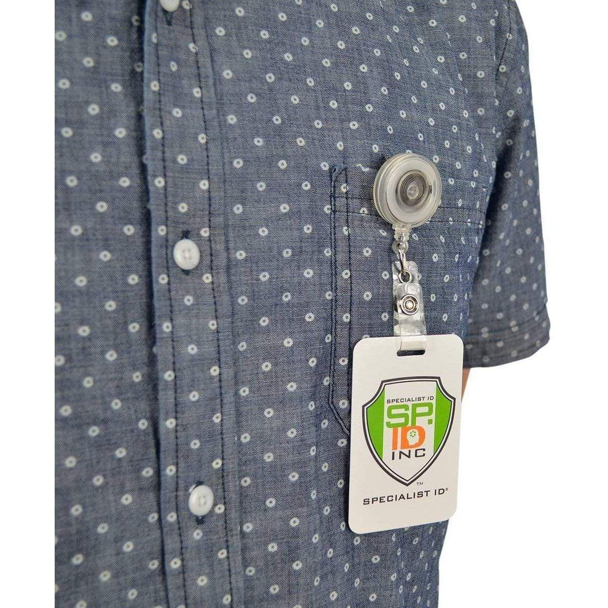 Translucent Retractable Badge Reel With Belt Clip (P/N 2120-360X)