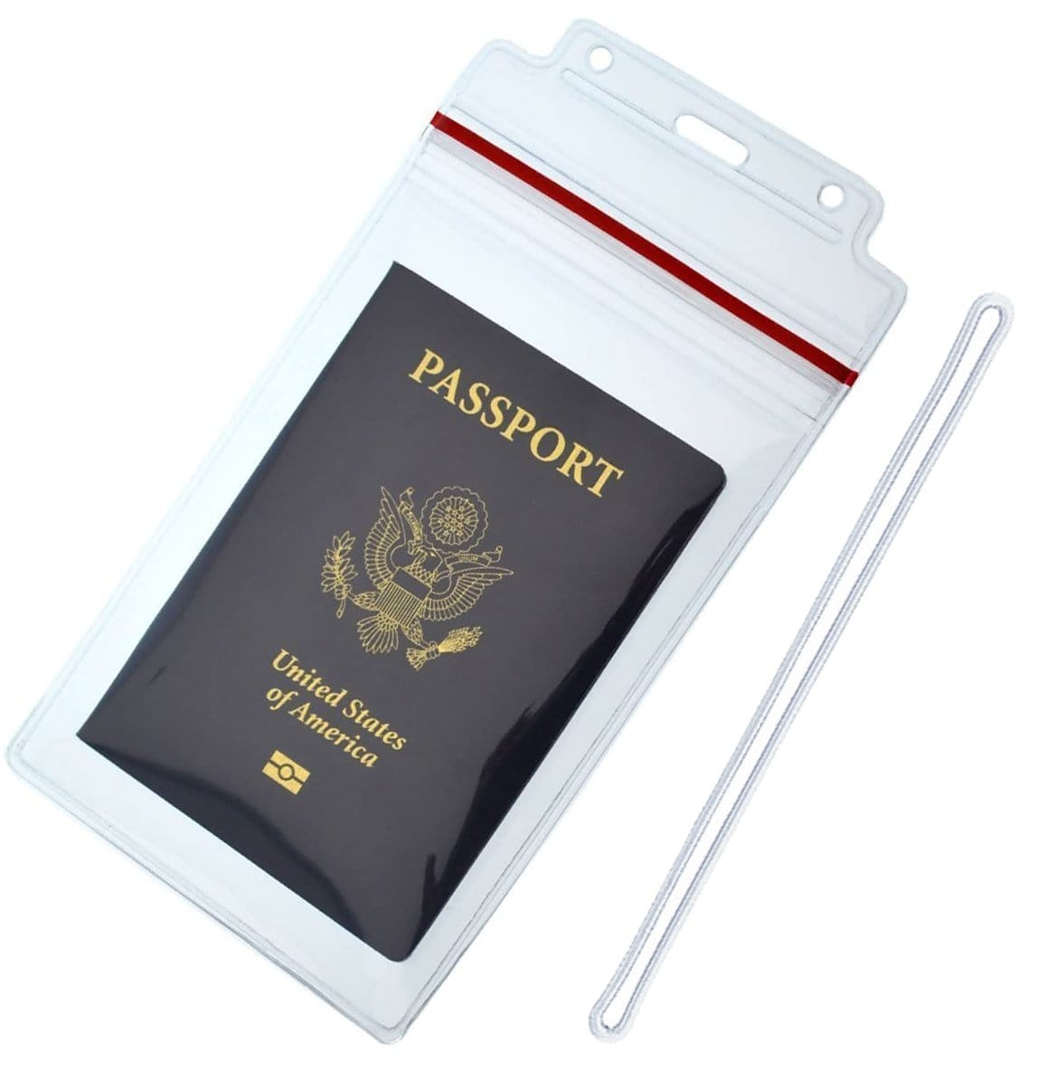 "Extra Large Luggage Tags - Clear 4x6 Heavy Duty Cruise Ship ID Tag / Golf Bag Travel Document Holder with 9"" Plastic Loop"