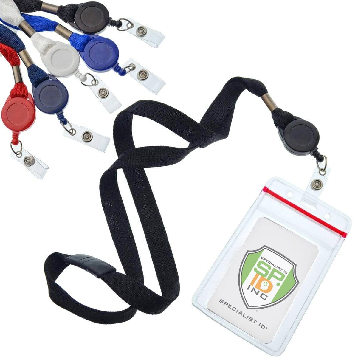 5 Pack - Cruisin Through Life™ Retractable Badge Holders - Great for Your Cabin Cards (Family Pack)