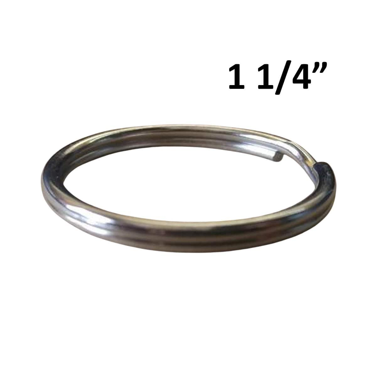 "25 Premium Extra Large 1 1/4"" Split Rings (SPID-9240)"