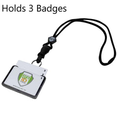 Plastic Name Tag Holders and Lanyards
