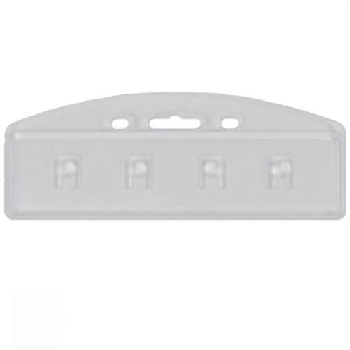 Clear Hypertite Horizontal Half Card Holder (P/N SPID-HPTH)