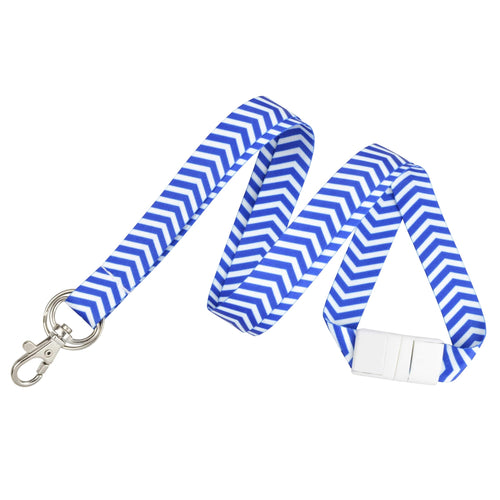 Chevron Pattern Fashion Lanyard with Key Ring and Trigger Snap Badge Clip (2138-628X)
