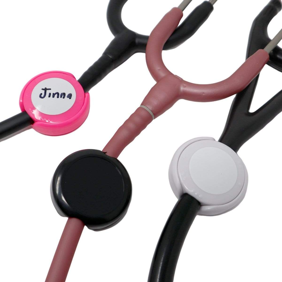 Antimicrobial Stethoscope ID Tag - Customizable Label & Adjustable Tube Size to Fit Most Stehs