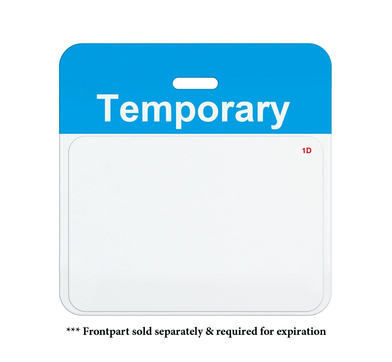 Preprinted Self-Expiring Badge Backpart, Box of 1000 (P/N T59XX)