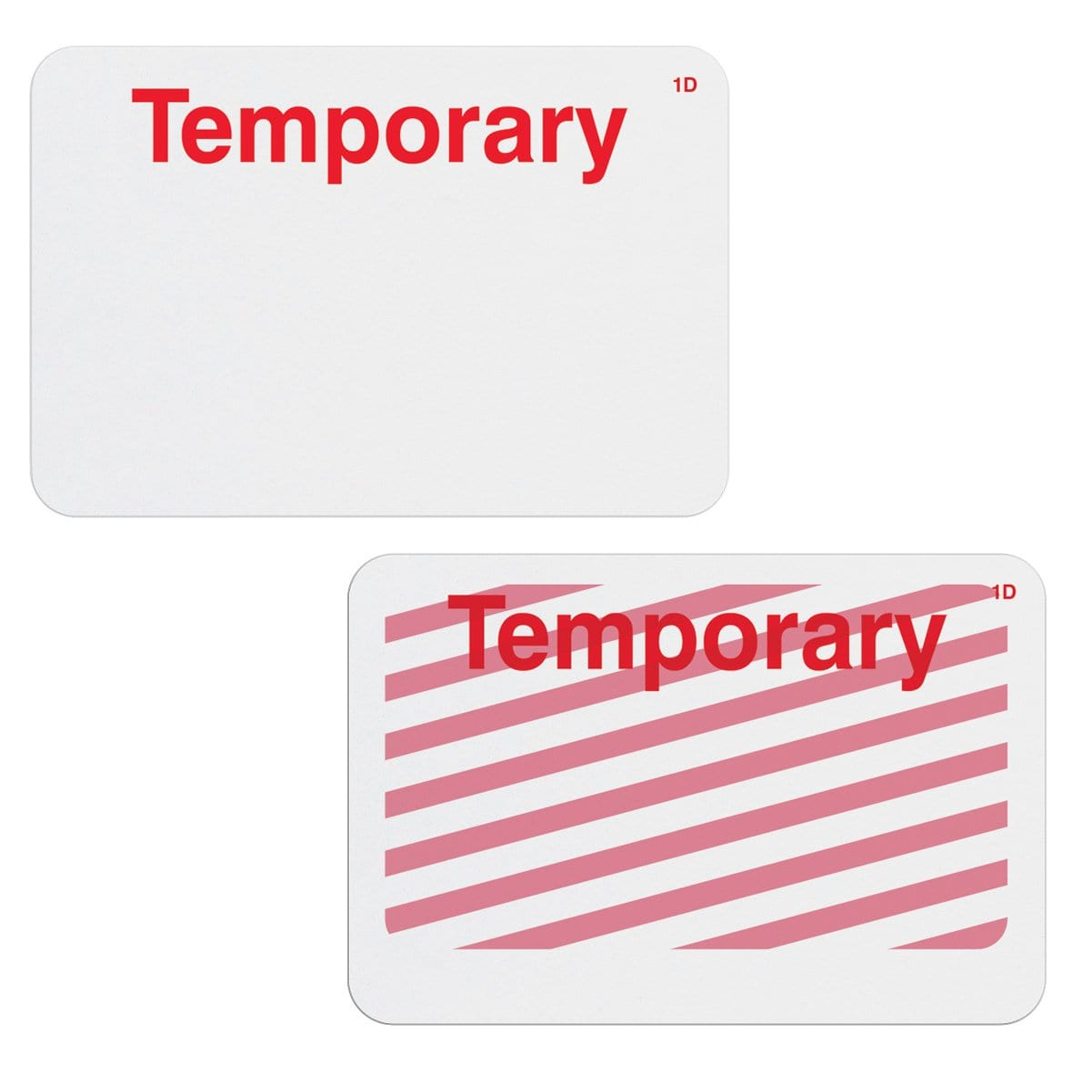 Frontpart Preprinted One Day Self Expiring Badges - Box of 1,000 (P/N T610X)