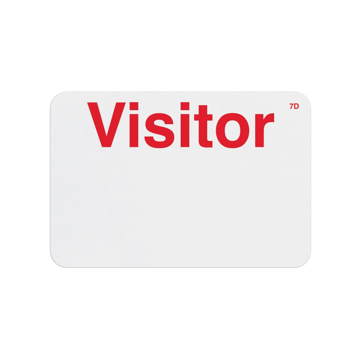 "Manual One-week Expiring TIMEbadge ""VISITOR"" (P/N T6203)"