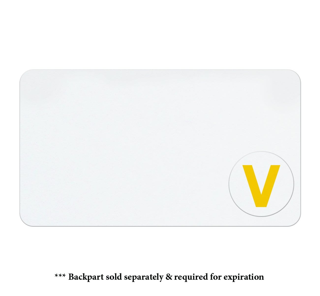 """V"" Half Day Expiring Time Spot/Cover Indicator (P/N T642X)"