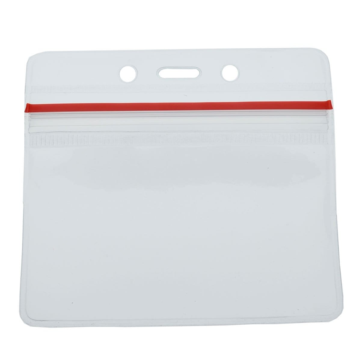 Clear Horizontal Vinyl ID Holder with a Zipper Top (VBH-H-ZIP)