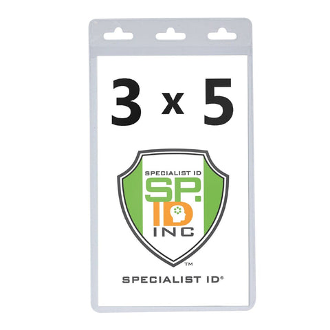 """Badge Holder With Tuck-In Flap 5-1//2/"""" x 3-1//2/"""" ~ 25 Holders Vertical Ticket"""