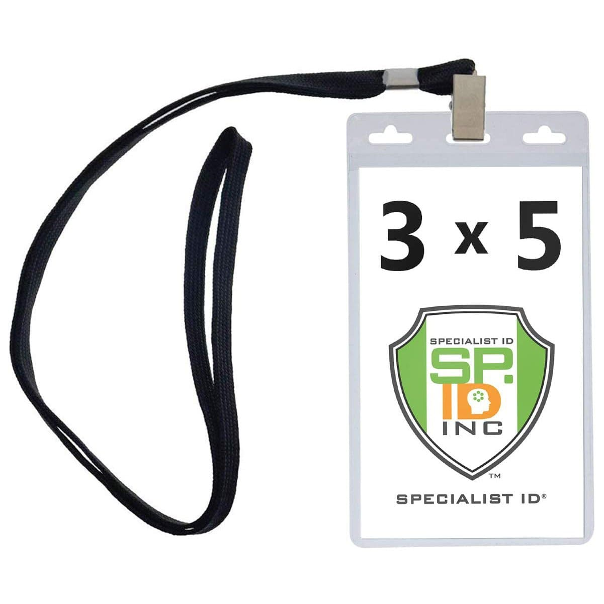 Vertical Oversized 3x5 Vinyl ID Badge Holders (XL35V)