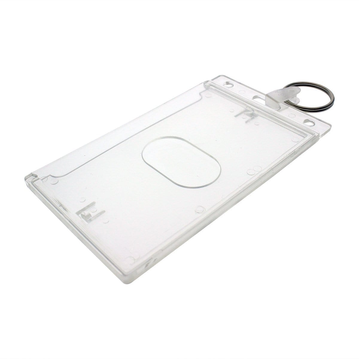 Rigid Fuel Card Holder with Key Ring