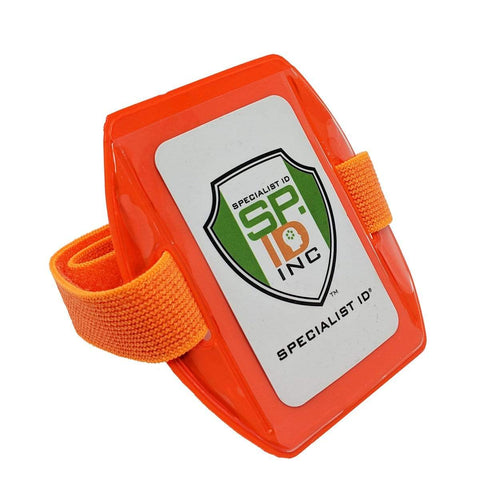 High Visibility Bright Neon Armband ID Card Badge Holders (AC-025)