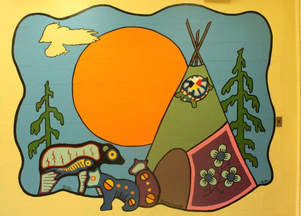 First Nations students finish mural started by student who died