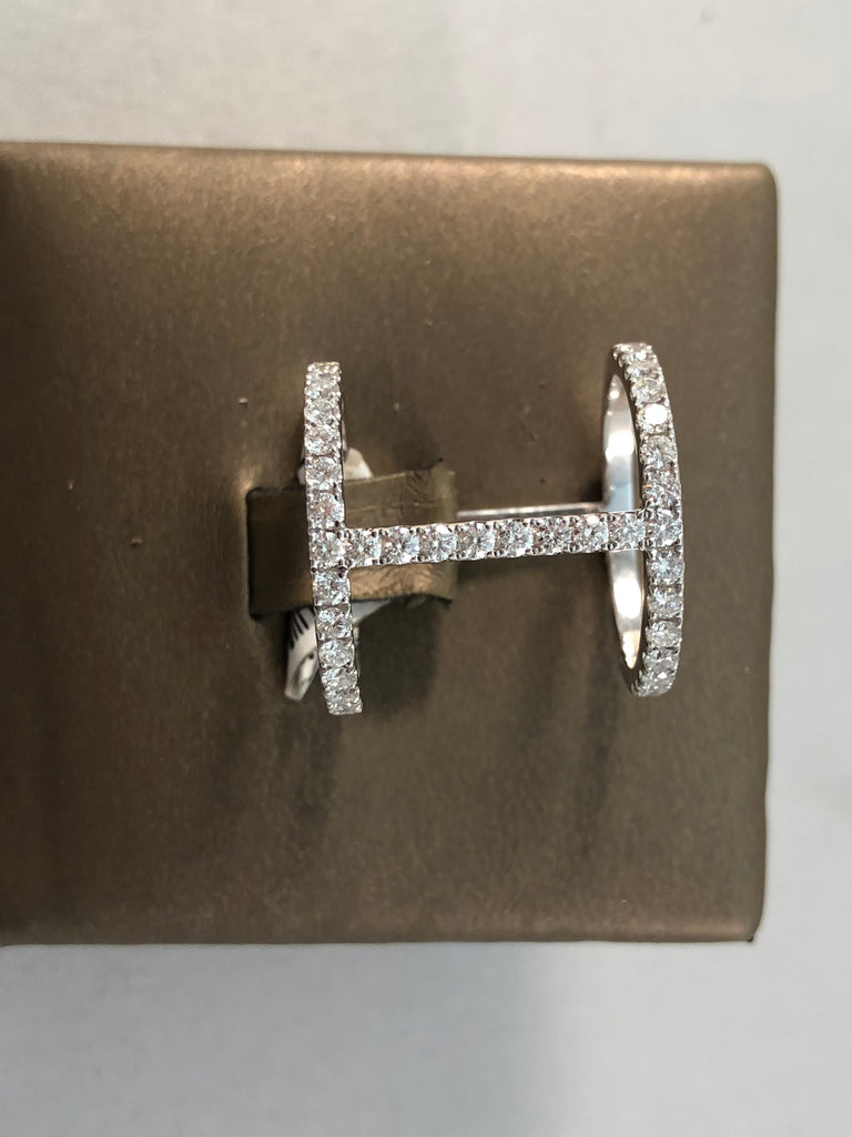 DOUBLE BAR STYLE DIAMOND FASHIN RING