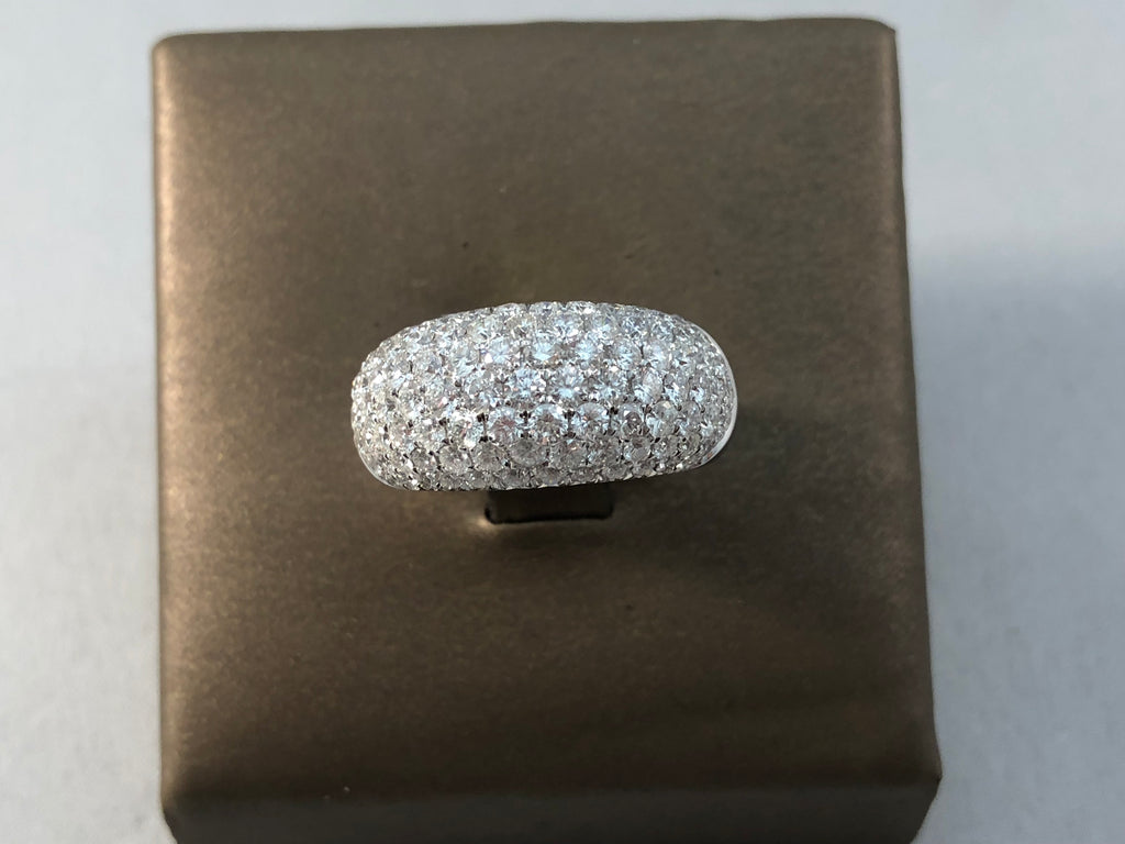 18KT WG 2.28CTW PAVE DOME RING