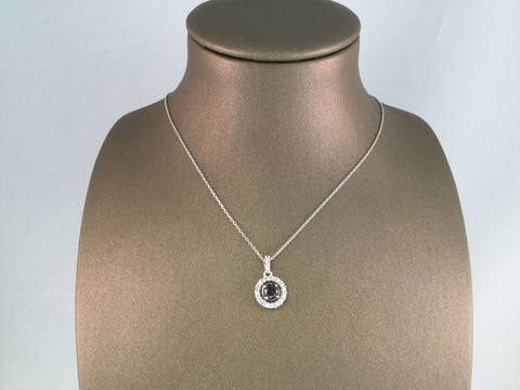 14KT BLACK AND WHITE DIAMOND PENDANT