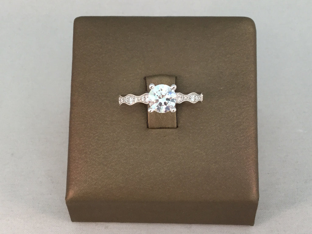 14KT DIAMOND BRIDAL SEMI-MOUNT