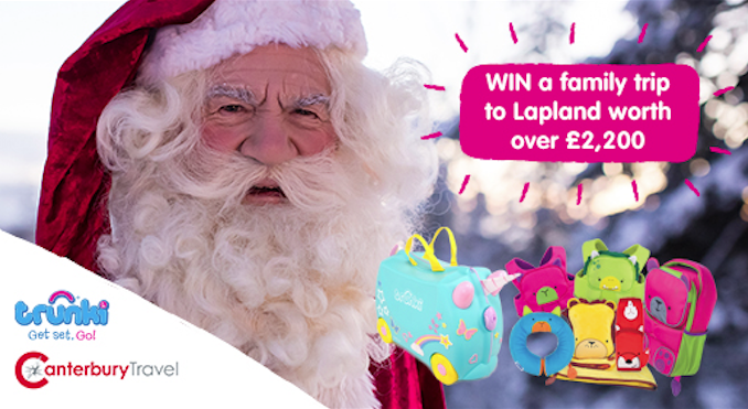 Competition: Our BIGGEST One Yet! WIN A Family Trip To Lapland & A Trunki Bundle... Worth Over £2200!