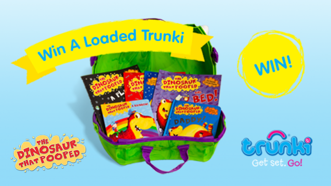 Competition: WIN A Trunki Filled With 'The Dinosaur That Pooped' Books!