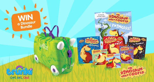 Competition: WIN A Trunki Filled With 'The Dinosaur That Pooped' Books... Part 2!