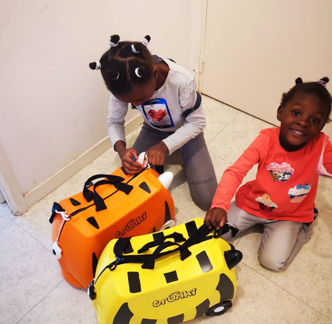 Tipu The Tiger & Bernard The Bee Trunki Suitcases