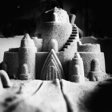 Salt castles are fun to make!
