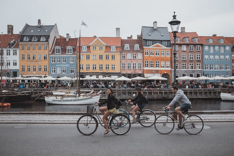 Cycling through Nyhavn!