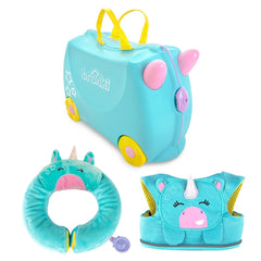 Unicorn Gift Set: Una Suitcase + Neck Pillow + Child Reins