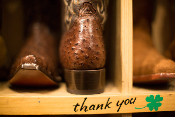 You Can't Buy Our Boots Online. Why? Because we love you.