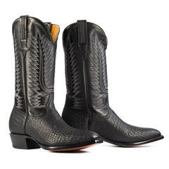 shark boot in black french toe heritage boot