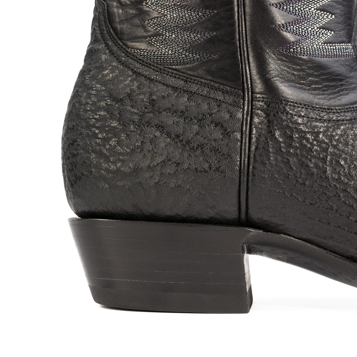 shark boot in black french toe heritage boot shark boot in black french toe