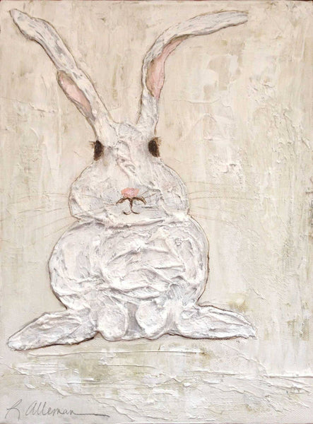 Floppy Eared Rabbit 9x12 Hand Painted Artwork - Relish New Orleans