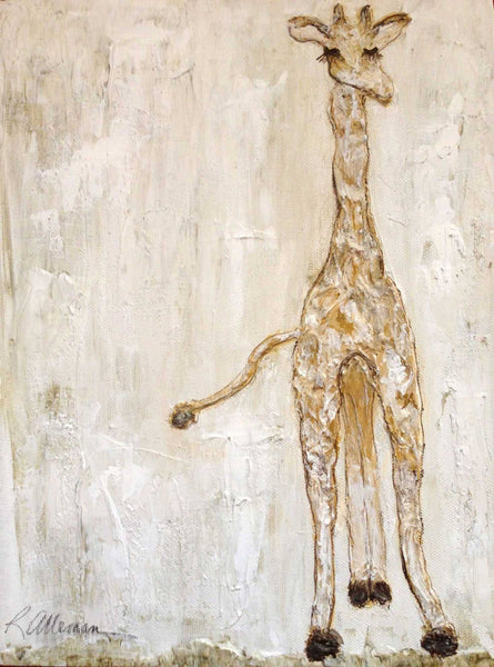 Baby Giraffe 9x12 Hand Painted Artwork - Relish New Orleans
