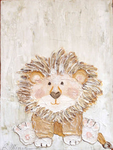 Baby Lion 9x12 Hand Painted Artwork - Relish New Orleans