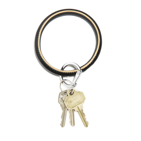 Image of Back in Black Big O Key Ring - Relish New Orleans  - 1