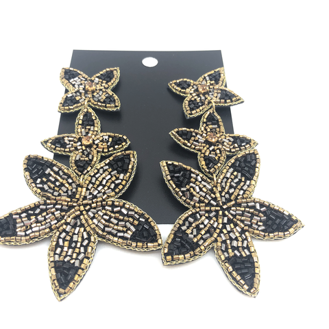 Triple Flower Earring