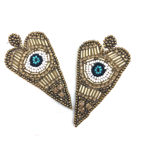 Heart Evil Eye Earring