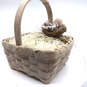 Woven Basket with Egg