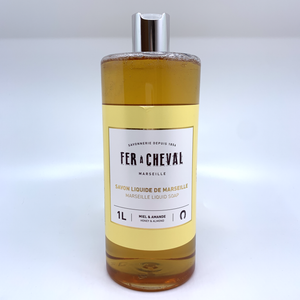 Marseille Liquid Soap - Honey & Almond 1L Refill
